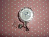 Wholesale Retailing Nurse Doctor Medical Healthcare Hospital Caduceus MD Retractable Reel ID Badge Holder