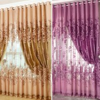 Wholesale High Quality Mordern Room Floral Tulle Window Screening Curtain Drape Scarfs