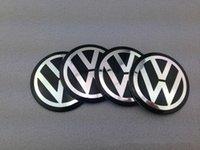 car wheel hub cap - 3D Car Badge Fit For VW Volkswagen Wheel Center Hub Cap Sticker Durable mm Logo Brand Emblem Car Accessory M Anti Fade Wheel Decoration