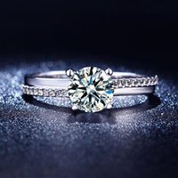 band clusters - White Gold Filled Cubic Zirconia wedding bands bijoux Classic Engagement Bridal vintage rings for women MSR213