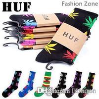 Cheap 120pcs=60pairs fashion HUF socks for men lovely hipop sock for boy free size socks for girl wholesale price 60g Free Shipping