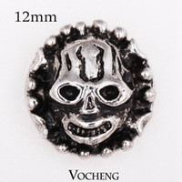 button skull - Vocheng Noosa Small mm Snap Interchangeable Jewelry Skull Metal Snap Button Ginger Snap Jewelry Vn