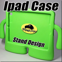 Wholesale 10 inch tablet case Ipad mini silicone Heavy duty shockproof case Stand Design For Ipad Ipad Air with opp bag