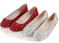Cheap wedding Dresses shoes Best Jeweled Beaded Flat