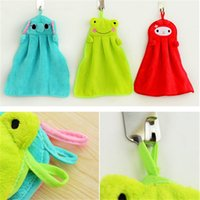 bear kitchen towels - 36 cm hand towel soft cartoon cleaning cloth hanging in kitchen or bathroom household cleaning tools supply
