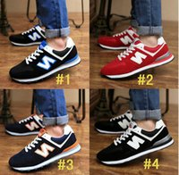 Unisex flats - New Balance casual sport mens shoes women flat heel Lace Up Breathable Sneaker Lovers shoes Running Jogging soccer shoes colors