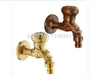 antique laundry - Garden Antique Plate Bathroom Washing Machine Tap Laundry Mop Pool Cold Water Bibcock Garden use Bath tap HJ F