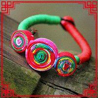 artwork bracelets - Pure Handmade Artwork colorful fabric statement exotic bracelet amp bangle New Original Ethnic bohemian bracelet Wrap Bracelets