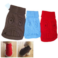 clothing dog - New Cute Pet Dog Warm Jumper Sweater Clothes Puppy Cat Knitwear Coat Apparel N0005 W0 SUP5