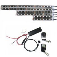Wholesale 6pcs Color SMD RGB LED Flexible Strip Wireless Remote Controllers Motorcycle ATV Light Kits