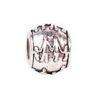 big love family - 1piece Silver Family Father Mother Boy Girl Bead DIY big hole European Beads Fits Charm fashion Bracelets necklaces pendants jewelry making