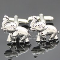 Wholesale Silver Men OM Hindu Ganesha Ganesh Elephant Shirt Cufflinks Bridal Groom Gift Jewelry