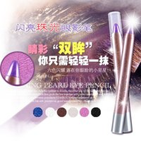 Wholesale 2016 Time limited Eye Pencil New Black Golden Brown Silver Blue Silv Matte Maquiagem Pearl Shadow Powder Pen Brighten High Light Bars