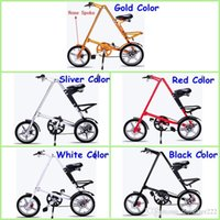 Wholesale Newest Strida Folding Bike STRIDA inch Aluminum Alloy Folding Bike Black White Gold Sliver Red Five Colors Road Folding Bikes None Spoke