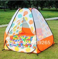 Wholesale XL Size Dia cm Red Green Orange Polka Dots Option Baby Toy Play Game House children Tents Defend Gnat Fabic