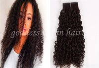 Wholesale Price A Grade Virgin Unprocessed Human Hair Extensions G PU Skin Weft Mongolian Kinky Curly Tape In Human Hair Extension