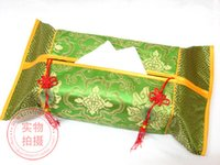 box facial tissue - Handmade Ethnic Facial Tissue Boxes Cloth Art Patchwork Damask Chinese knot Jade Tassel Rectangular Decoration Serviette Paper Cover