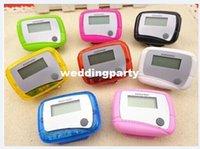 Wholesale 2 key LCD Digital Step Pedometer Run Distance Pedometers Calorie Walking Counter Pocket Clip
