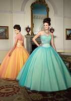 Wholesale 15 Quinceanera Dresses Beaded Pleats Ball Gowns Blue Quince Dresses Prom Gowns With Jacket Quinceanera Prom Dresses