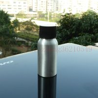 pharmaceutical raw material - 30ml aluminum silver bottle With black plastic cap cosmetic container used for essential oils pharmaceutical raw materials