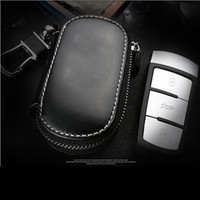 leather key ring - New Arrival Cow Leather Car Key Wallet Holder Case Cover for Auto Cadillac Lexus Audi BENZ HONDA KIA etc Keychain Key Ring Bags Free DHL