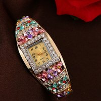 Unisex antique chronograph - Vine relogio Quartz Watches Luxury Brand Women Relogio Feminino Bracelet Fashion Gold Plated Crystal Montre Femme Watches NEW