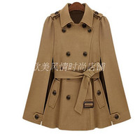 belted tweed coat - new arrive winter new Europe and the United States star fashion cloak belt wool trench coat double breasted coat coat lapels