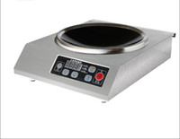 Wholesale 3500 Watt Commercial Countertop Induction Cooker Stainless Steel V V For WOK only Single Burner portable convenient LED display