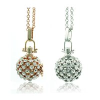 bell charm - New Fashion Necklace Bell Bola Charms Copper Angel Cage Harmony Ball Musical Bells Pendants Necklace For Pregnant Women Jewe