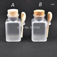 abs personal - g Square bath salt ABS Bottle ml powder plastic bottle bath salt bottle with wooden spoon