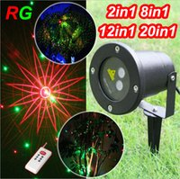 Wholesale Cheap Stage Lasers - Cheap Sale! Waterproof Outdoor Laser Firefly Stage Lights Landscape Red Green show Projector Christmas Garden Sky Star Lawn Light Lighting