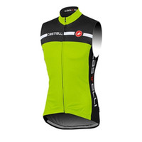 bicycle shirts - hot green male Cycling Sleeveless jersey bike racing match sportswear bicycle Jersey Cycling vest maillot Ciclismo sleeveless shirt