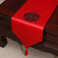 earthing mat - Happy Embroidered Ethnic Table Runners Chinese style High End Luxury Damask Tea Table Cloth Dining Table Mats Wedding Dinner Party Decoratio