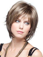 Wholesale New Fashion Hairstyle lady short womens hair Full wig brown