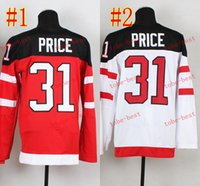 team canada jerseys - team canada carey price Hockey Jerseys Best quality ICE Winter Jersey Embroidery Logo Size M XL Mix Order