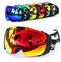 anti snow goggles - New COPOZZ brand professional ski goggles double UV400 anti fog big ski mask glasses skiing snowboarding men women snow goggles