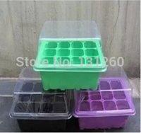 Wholesale 3 set hot sale Seedling tray sprout plate holes nursery pots tray box bonsai
