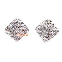 Wholesale Best Selling CZ Diamond Wedding Earrrings Sterling Silver Hooks Fashion Pageant Stud Earring For Women Bridal Jewelry Cheap Exquisite