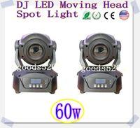 Wholesale 2pcs W Led Moving Head Light disco led effect stage light CH DMX512 Led Moving Head Spot Light USA Luminous FOCUS Facet