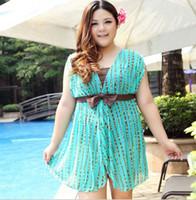 Wholesale sexy one piece swim suits Plus size hot spring swimwear female XXXXL dress More color one piece swimwear