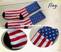 Wholesale American Flag Socks Brand Striped Elite Outdoor Men Sport Socks For Women Harajuku Cotton Calcetines Male Stockings