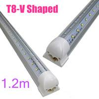 T8 28W 32W 42W 65W SMD 2835 50X Hot Sales V-Shaped 4ft 5ft 6ft 8ft T8 Tubes Lights Cooler Door Led Tubes Single Pin FA8 Integrated 28W 32W 42W 65W Cold White AC 85-265V