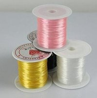 Wholesale 23 ft Stretchy Clear Bead String Elastic Jewelry Socks Knit Wire High Quality Fashion Jewelry Bead