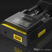 Wholesale Top Quality Nitecore D2 Digital Battery Charger Universal Intelligent LCD Display For Sony VTC5 A Samsung LG Battery