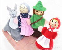 animal riding bike - Little Red Riding Hood and the big bad wolf of fairy tales finger doll Finger doll Toy dolls Zodiac animals