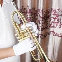 Guantes Instrumento mayor-Musicales Blanca Rendimiento golves para Saxphone Trompeta Flauta Clarinete bandas de música de alta calidad de materiales