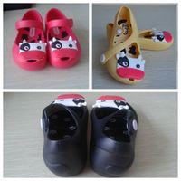 Wholesale 2015 summer style children sandals mini melissa kids beach shoes soft sole skid cute cow girls shoes HX