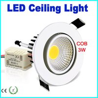 Wholesale NEW LED Cob Down Light W Ceiling Recessed Downlights Lamp V Warm Or Cool White LED Lighting Fixtures With White Shell For Hotels