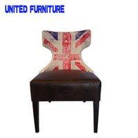 Wholesale metal legs and leather fabric back chair casual dining chair minimalist fashion chair factory