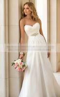 Cheap Sexy the bride weddingdress Chiffon Beach Wedding Dress Vintage Boho Cheap Wedding Dress trailing Bridal Gown